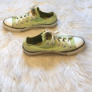 Converse Lime Green Canvas Sneakers Women's Size 6